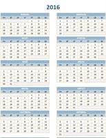 Ежегодный календарь на 2016–2025годы
