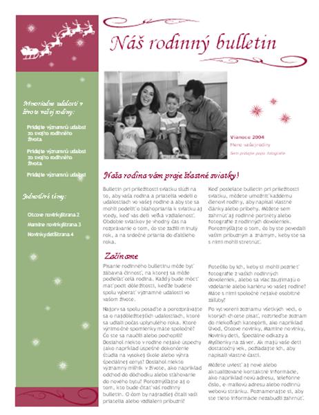 Bulletin pri príležitosti sviatku (s obrázkom Mikuláša na saniach so sobmi)
