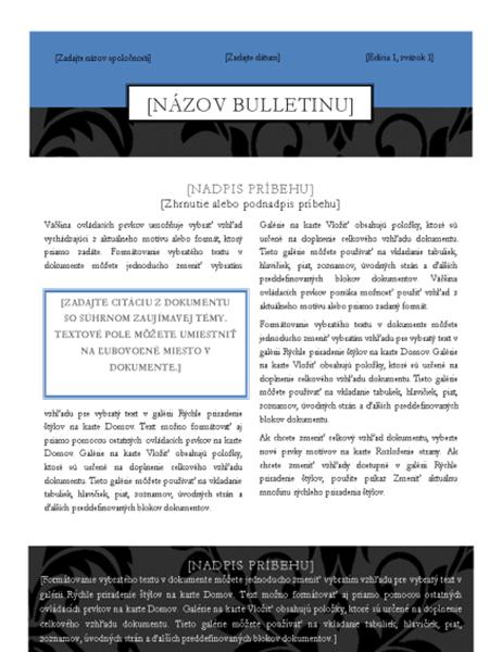 Bulletin (štýl čiernej kravaty)