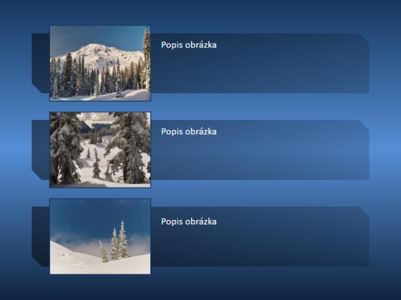 Animovaný obrázok hôr, ktorý sa zobrazí na celú snímku a potom sa zmenší