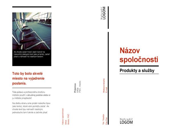 Trikrát preložená brožúra (červeno-čierna)