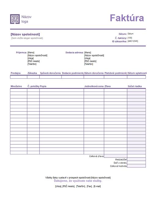 Predajná faktúra (motív sjednoduchými čiarami)