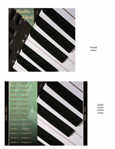 Obal disku CD (motív klavíra)
