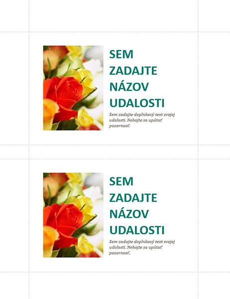 Pohľadnice kobchodnej udalosti (2 na stranu)