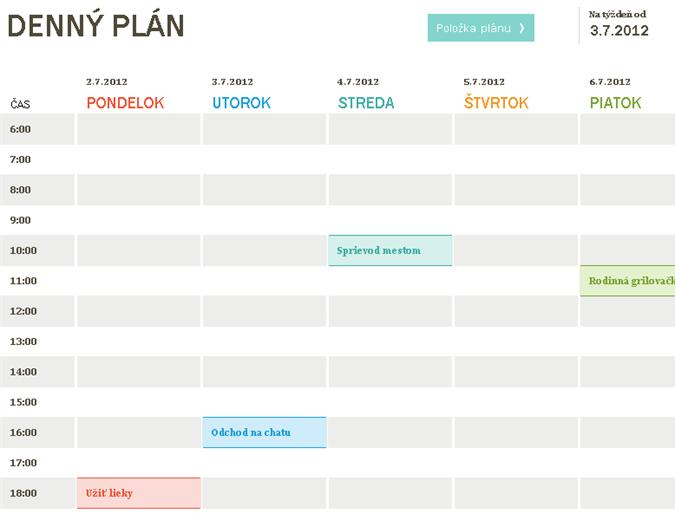 Denný plán
