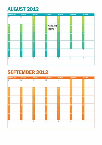 Akademický kalendár (Po – Ne)