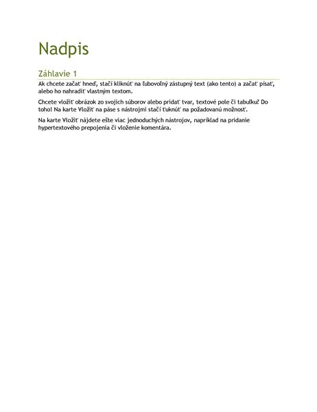 Prázdny dokument s fazetovým motívom