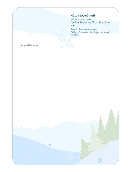 Hlavičkový papier zo zimnej súpravy šablón