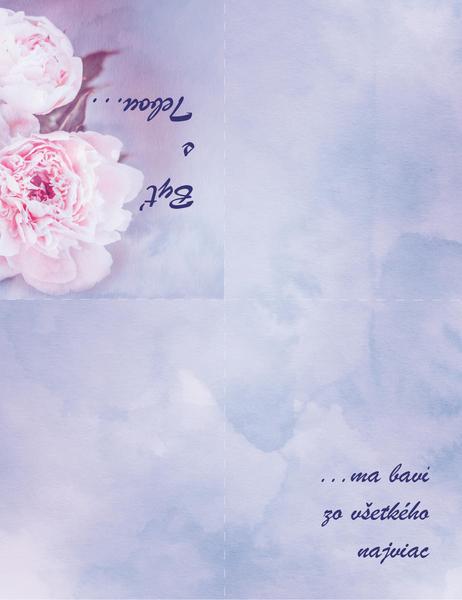 Romantická pohľadnica (sružou, zložená na štvrtiny)