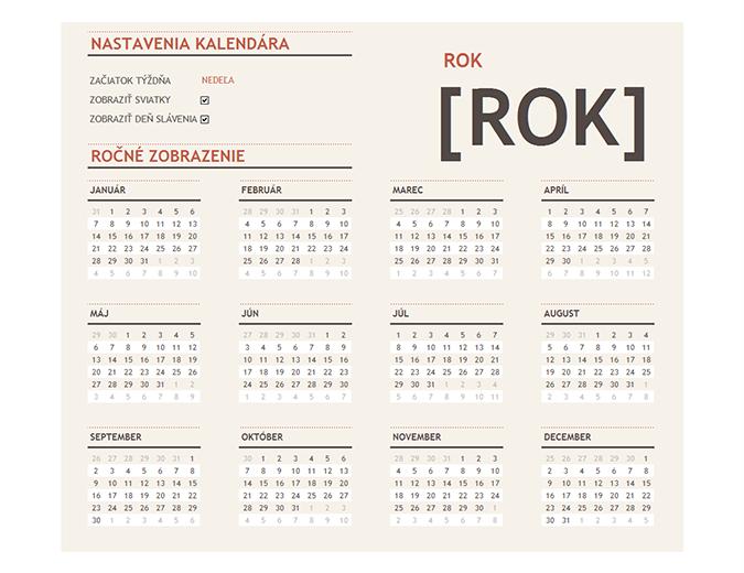 Nekonečný kalendár so sviatkami