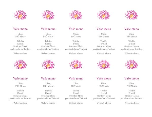Osobné vizitky smotívom kvetu (zvislý návrh)