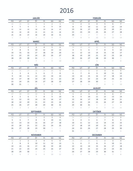 Ročný kalendár