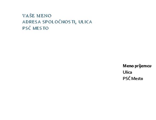 Hlavičkový papier a obálky