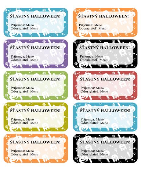 Halloweenske sprievodky (10 na stranu)