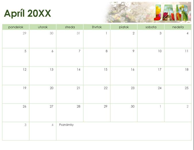 Kalendár na ročné obdobia s fotografiami