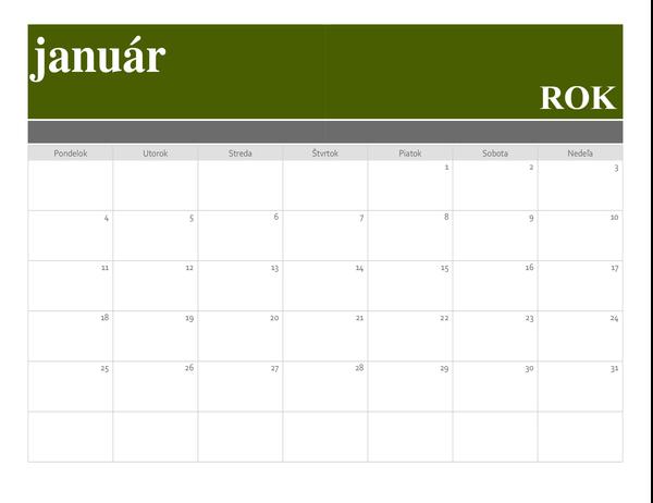 Pruhový kalendár