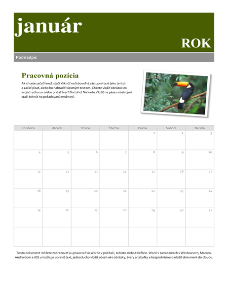 Kalendár snímok