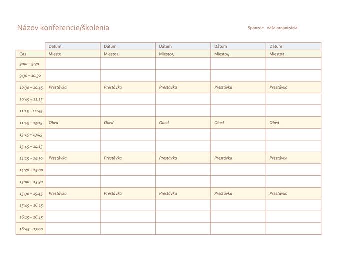 Program päťdňového podujatia