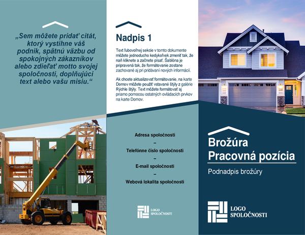 Brožúra stavbára