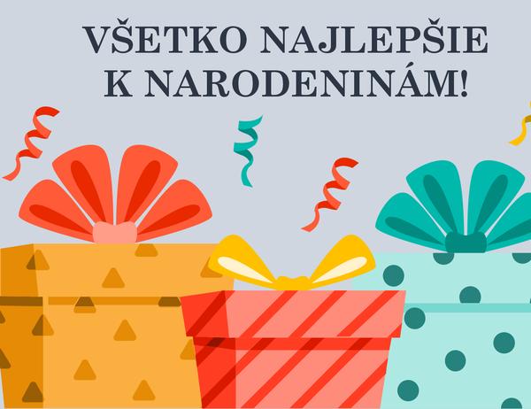 Blahoželanie k narodeninám s veselými darčekmi