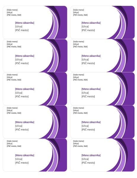 Fialové prepravné štítky (10 ks na stranu)