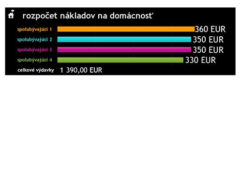Rozpočet nákladov na domácnosť
