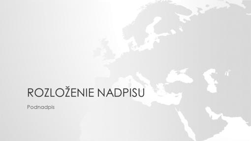 Rad máp sveta, prezentácia Európy (širokouhlý formát)