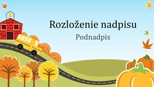 Zábavná jesenná vzdelávacia prezentácia (širokouhlý formát)