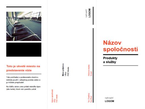 Trikrát preložená obchodná brožúra (čierny ačervený návrh)