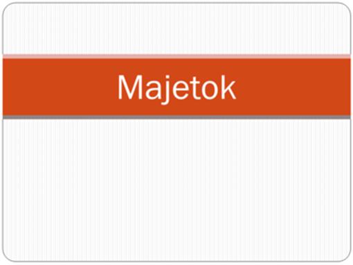 Majetok