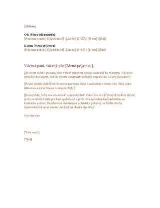 Formálny obchodný list