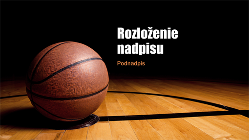 Basketbalová prezentácia (širokouhlý formát)