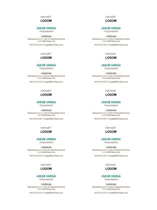 Vizitky s vodorovným rozložením a logom (10 na stranu)