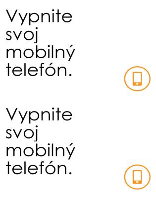 Pripomenutie vypnutia mobilných telefónov