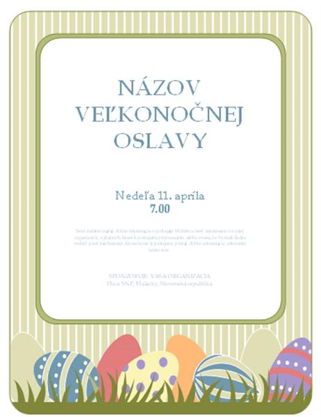 Leták pre Veľkonočné sviatky (s vajíčkami)