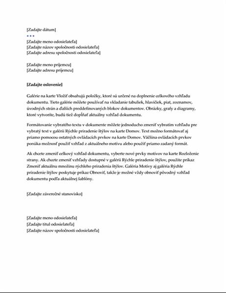 List (exekutívny štýl)