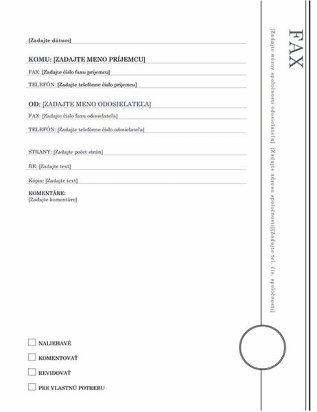 Fax (motív arkády)