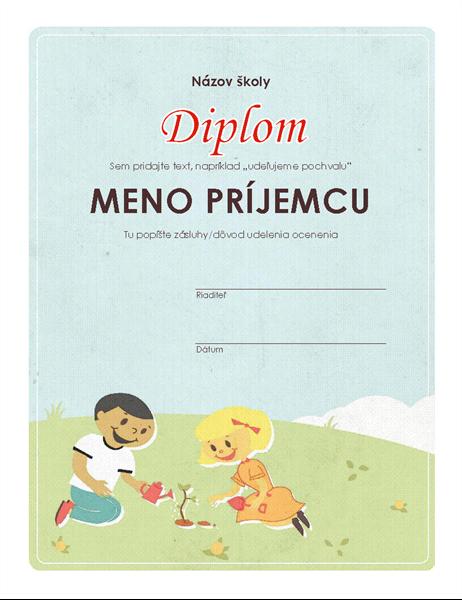 Diplom pre základné školy