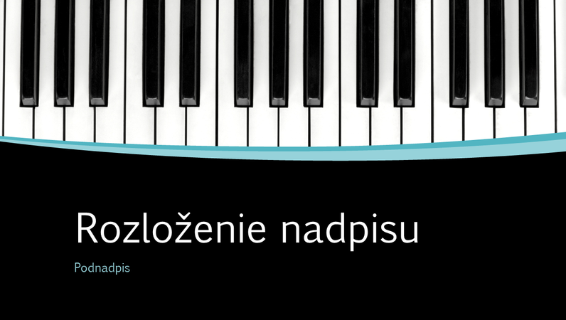 Prezentácia s krivkovými hudobnými motívmi (širokouhlý formát)
