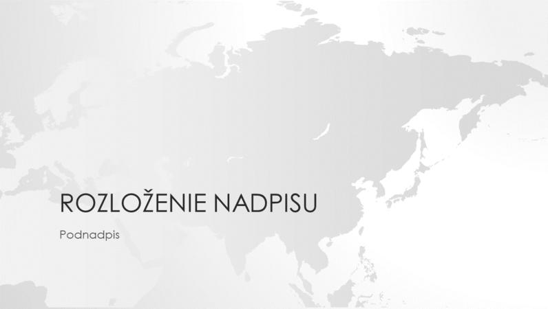 Rad máp sveta, prezentácia kontinentu Ázia (širokouhlý formát)