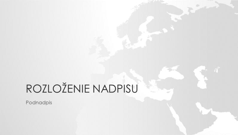 Rad máp sveta, prezentácia svetadielu Európa (širokouhlý formát)