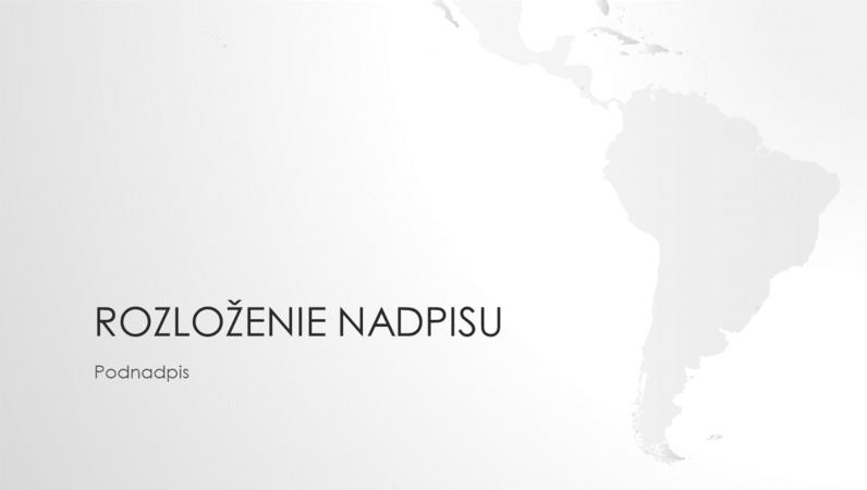 Rad máp sveta, prezentácia kontinentu Južná Amerika (širokouhlý formát)