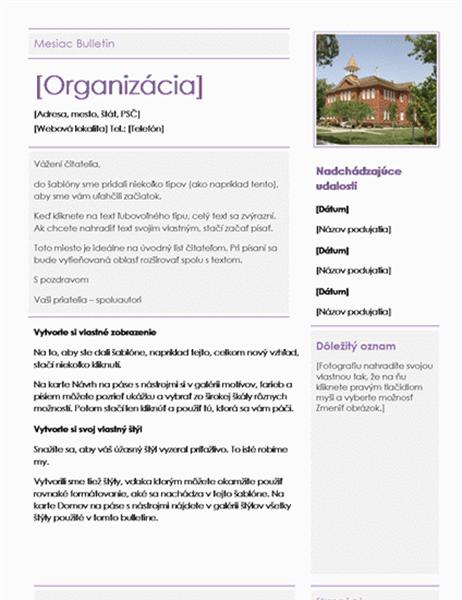 Bulletin pre základné školy