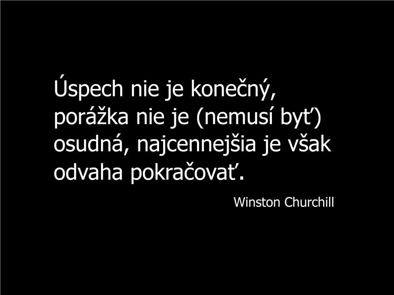 Snímka s výrokom Winstona Churchilla