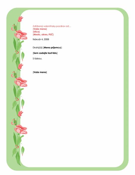 Motív valentínskeho listu