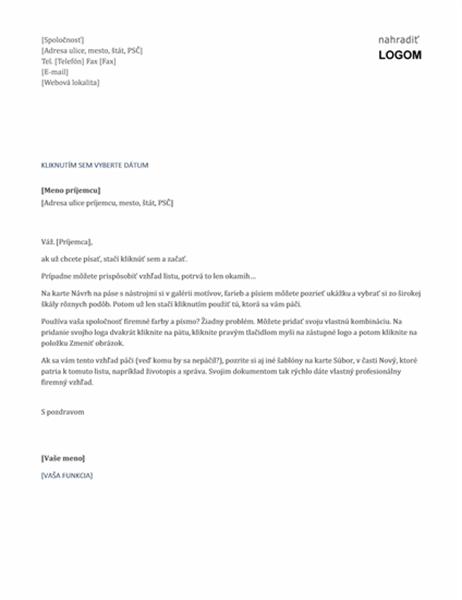 Hlavičkový papier (nadčasový návrh)