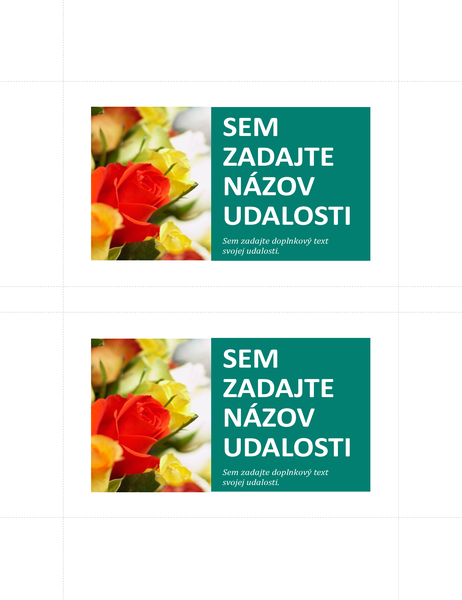 Propagačné pohľadnice (2 na stranu)