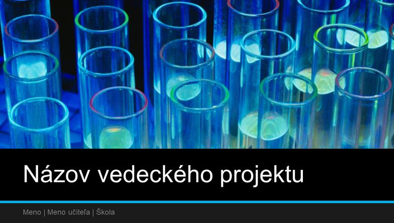 Prezentácia vedeckého projektu (širokouhlý formát)