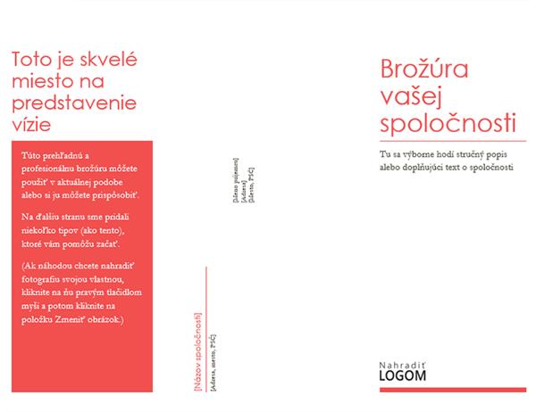 Brožúra spoločnosti