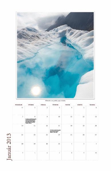 Kalendár na rok 2013 s fotografiami pre jednotlivé mesiace (Po – Ne)